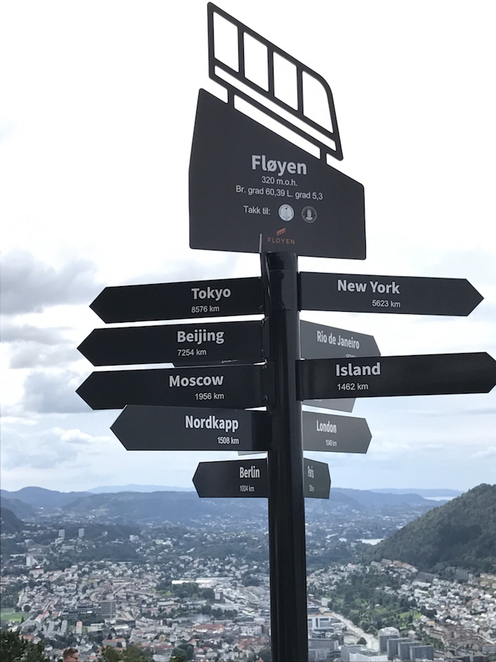 Mt Floyen Road Sign