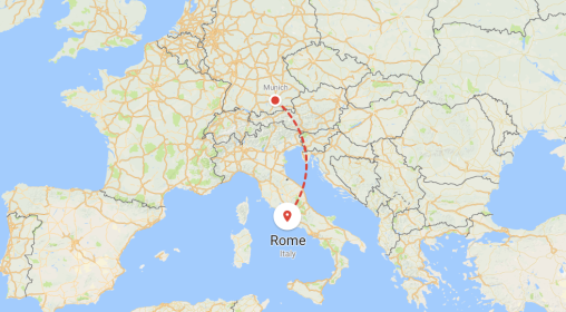 Gallery - thumbnail map Rome piece